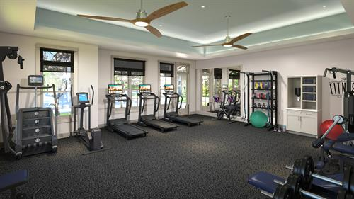 State-of-the-art fitness center, just for our residents