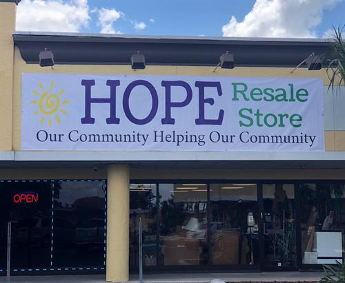 Community donations are accepted here to provide for the needs of local families who are struggling.