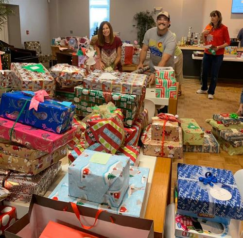Our community working together to provide Christmas for local children.
