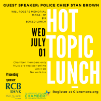 Hot Topic Lunch: Chief Stan Brown