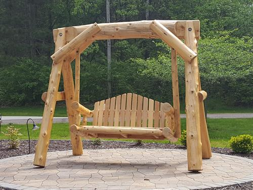 Cedar Log Swing