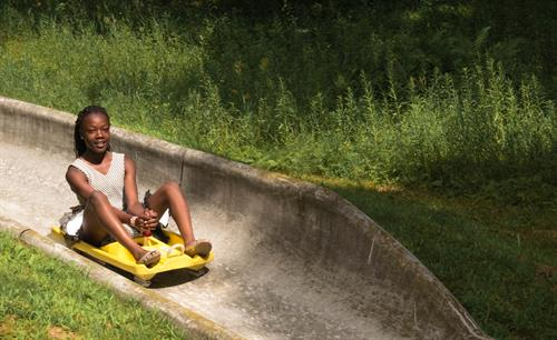 Cruising down the Alpine Slide