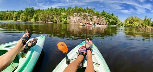 Floating on the St Croix River