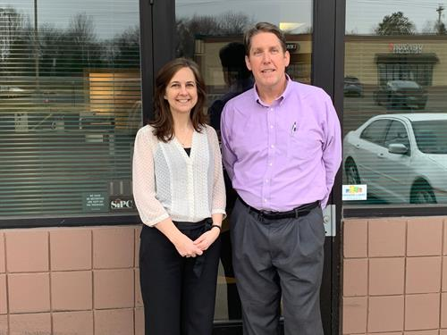 Financial Advisor Jim Green and Office Administrator Wendy Redland
