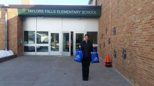 Taylors Falls Elementary--donation of snacks for the teachers