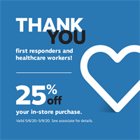 A Thank You to First Responders and Healthcare Workers