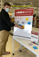 #ThankaNurse at Staples in Mansfield