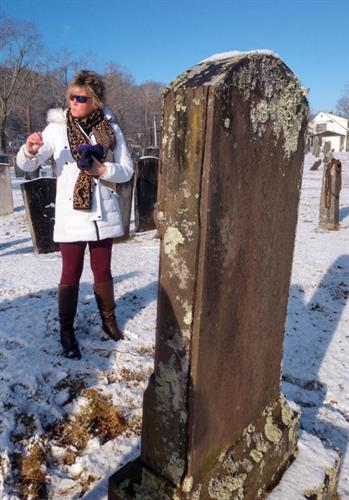 Lisa discusses a historic brownstone tablet