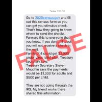 WARNING! Scam Connecting 2020 Census to Future Coronavirus Stimulus Checks