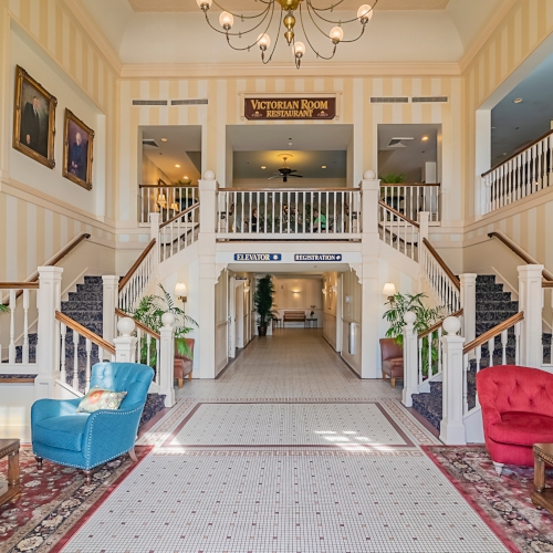 Dunes Manor Hotel | Main Building Grand Staircase
