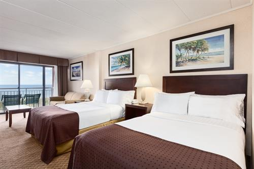 Two Double Beds with Ocean View