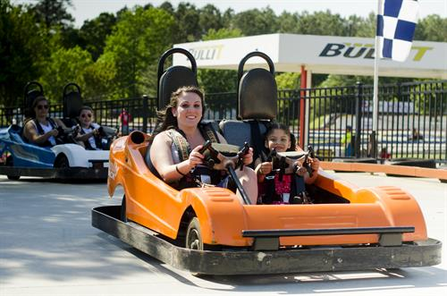 "PASSENGER RIDES FREE! Only 1 Ticket or Wristband per Kart on our Double Sea-Go-kart on our 3 ""Family Tracks""!!"