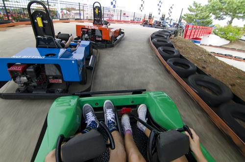 Bridges on 3 Tracks! Plus Single & Two-Seat Karts.  Passenger rides FREE!