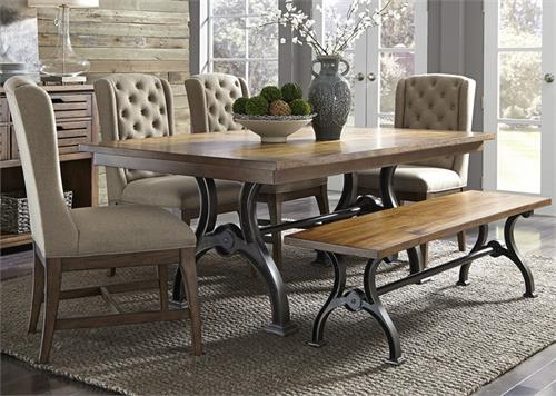 Farmhouse Inspiration..we can design any dining area with a unique edge!