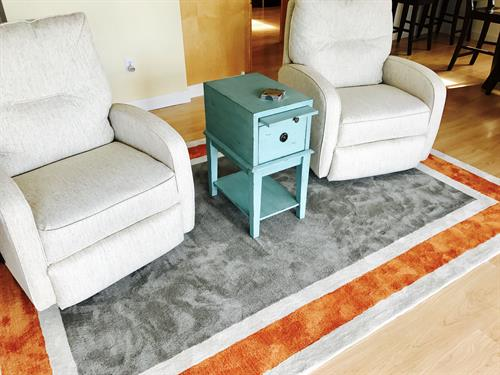Sunrise Coffee nook...we can create great looks in the smallest spaces!