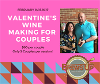 Valentine's Wine Making Experience for couples - Brews Up