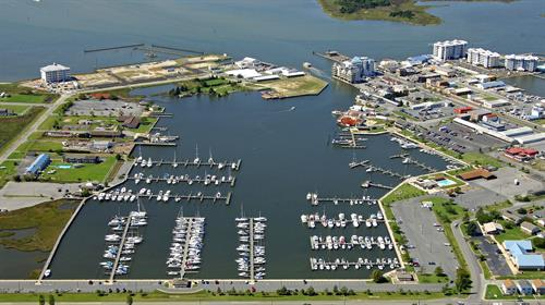 Our sheltered, man-made harbor provides easy access to the Tangier and Pocomoke Sounds.