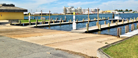 The triple ramp boat launch boasts clean restrooms and our close by fuel pier.