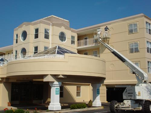 The Avalon Condominium is a three story condominium located in Avalon, NJ.  Our services included the thorough inspection of the building to determine areas of water infiltration, make the necessary repairs and to coat and waterproof all EIFS surfaces.