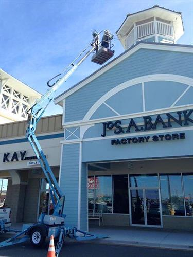 Painting Exterior of Outlets