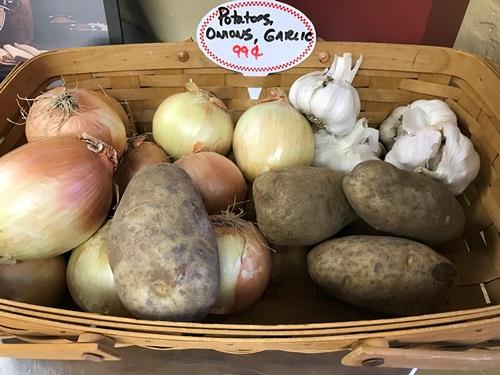 Potatoes, Onions & Garlic
