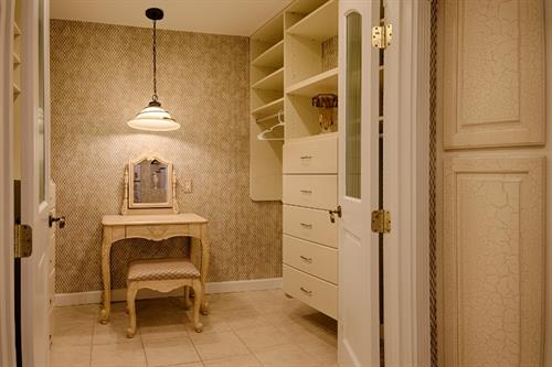A Million Dollar View House ~ Master Bath Vanity Dressing table and room