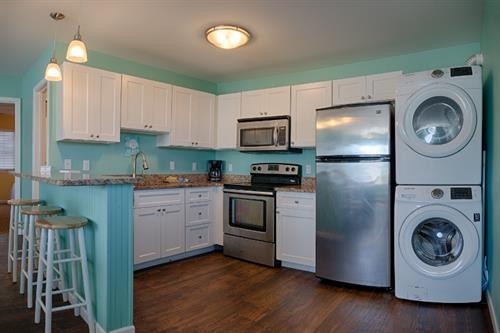 South Beach Apts  ~ Stainless Steel appliances, including dishwasher, washer/dryer