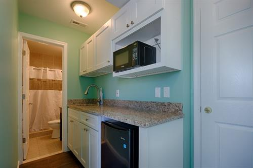 South Beach Apts ~ 2nd kitchen (mini) & 2nd bath of 3 bedroom/2 bath unit