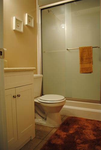 2nd bathroom provides shower