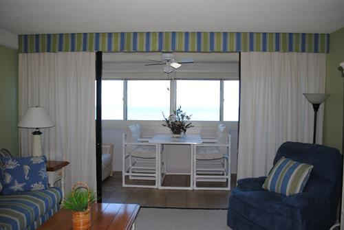 Eat breakfast or sip your coffee on the Oceanfront balcony