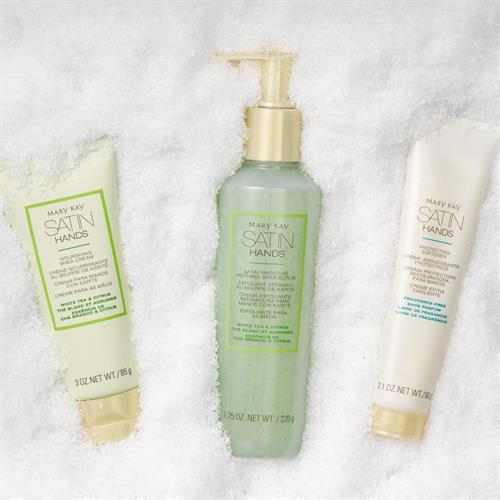 Satin Hands Set with Softener, Shea Scrub and a Shea Cream