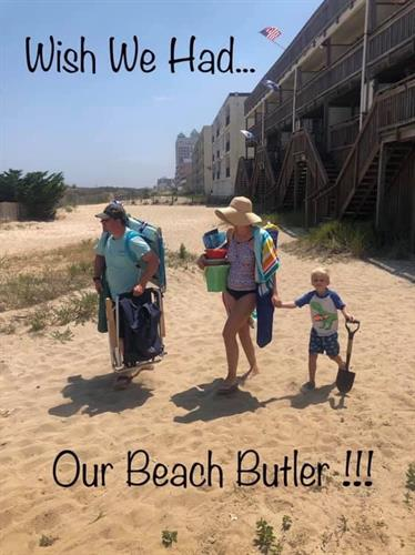 This wonderful family misses their Beach Butler