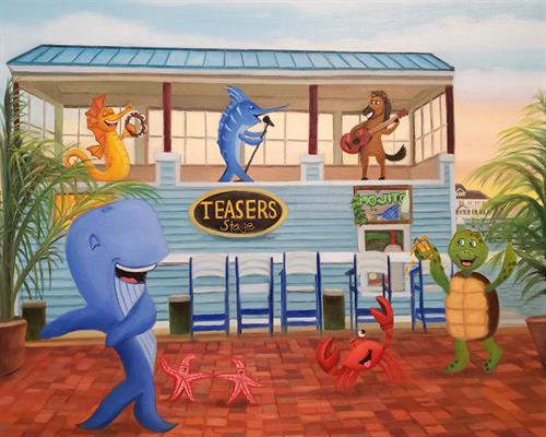 """Twistin' at Teasers"" Original Oil Painting on Canvas"