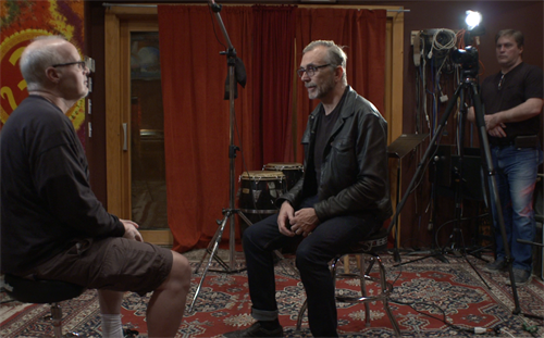 Filming an interview with lead singer Art Alexakis from Everclear