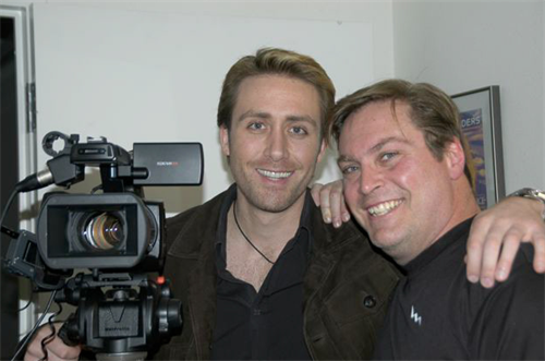 Fun on set with Phillipe Cousteau