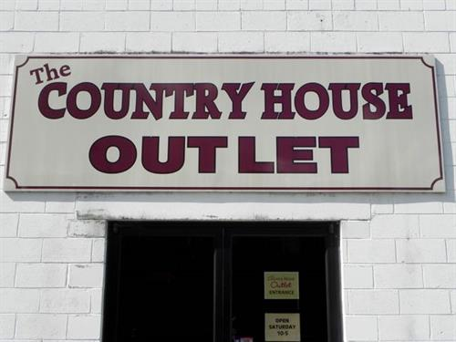 The Country House Outlet located right across the parking lot from the retail store.