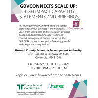 GovConnects Scale Up: High Impact Capability Statements and Briefings