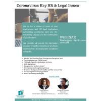 Coronavirus: Key HR & Legal Issues - Webinar