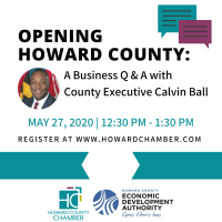 Opening Howard County: A Business Q/A with County Executive Calvin Ball