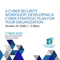 2020 Cyber Risk Management Series: #3 A Cyber Security Workshop - Developing a Cyber Strategic Plan for Your Organization
