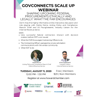 GovConnects Scale Up WEBINAR: Shaping Upcoming Federal Procurements Ethically and Legally: What the FAR encourages