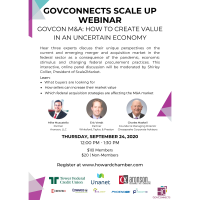 GovConnects Scale Up WEBINAR: GovCon M&A: How to Create Value in an Uncertain Economy