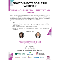 GovConnects Scale Up WEBINAR: The Road to Recovery in 2021: What Lies Ahead