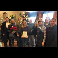 Receiving an Award of Appreciation from Howard County Chamber for our 85 Years in Business