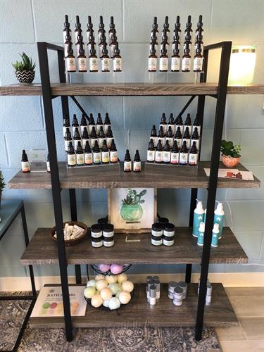Hemp oils, water solubles, body lotions, topical creams and bath bombs!