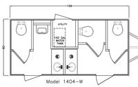 Dark Executive Luxury Restroom Trailer Layout
