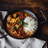 Wood-fired cauliflower tikka masal
