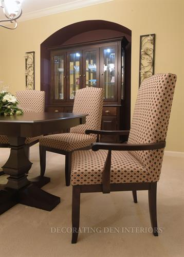 Dining Room - Table & Chair Detail with Hutch in Accent Cove Area