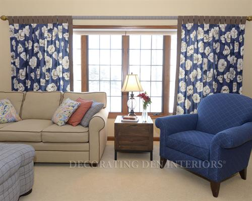 Family Room - Window Treatments