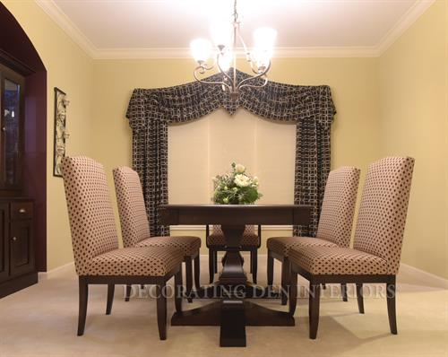 Dining Room - New Table, Seating and Window Treatments